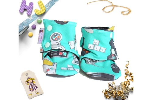 Click to order 9-12m Summer Stay on Booties Gamicons now